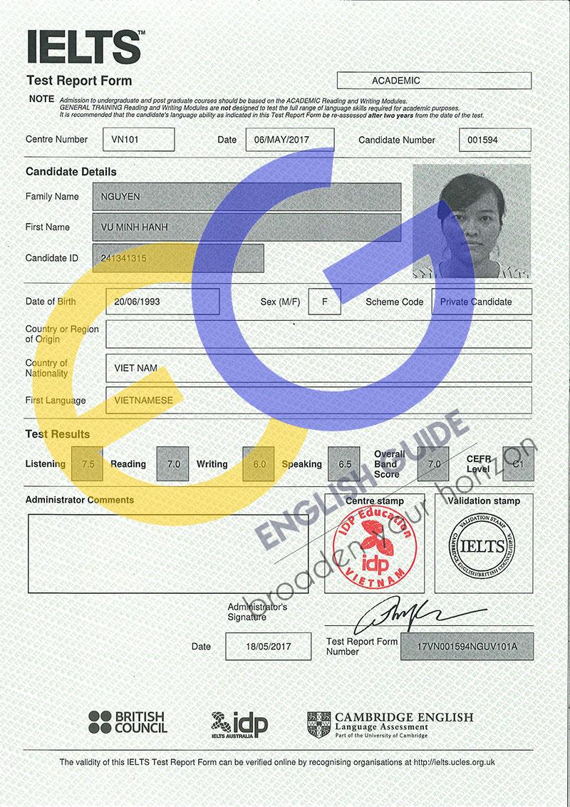 Học viên Nguyễn Vũ Minh Hạnh – IELTS 7.0